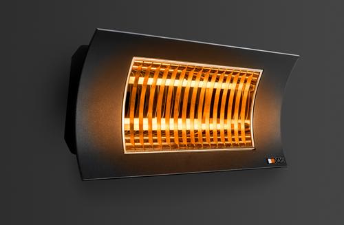 Lampada infrarossi oasi by radialight nera radialight - Riscaldamento per bagno ...
