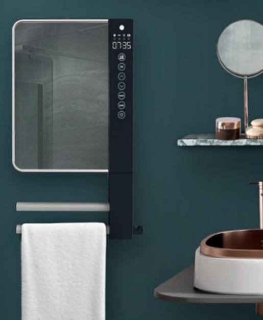 Termoventilatore da parete programmabile con barre - Deumidificatore bagno parete ...