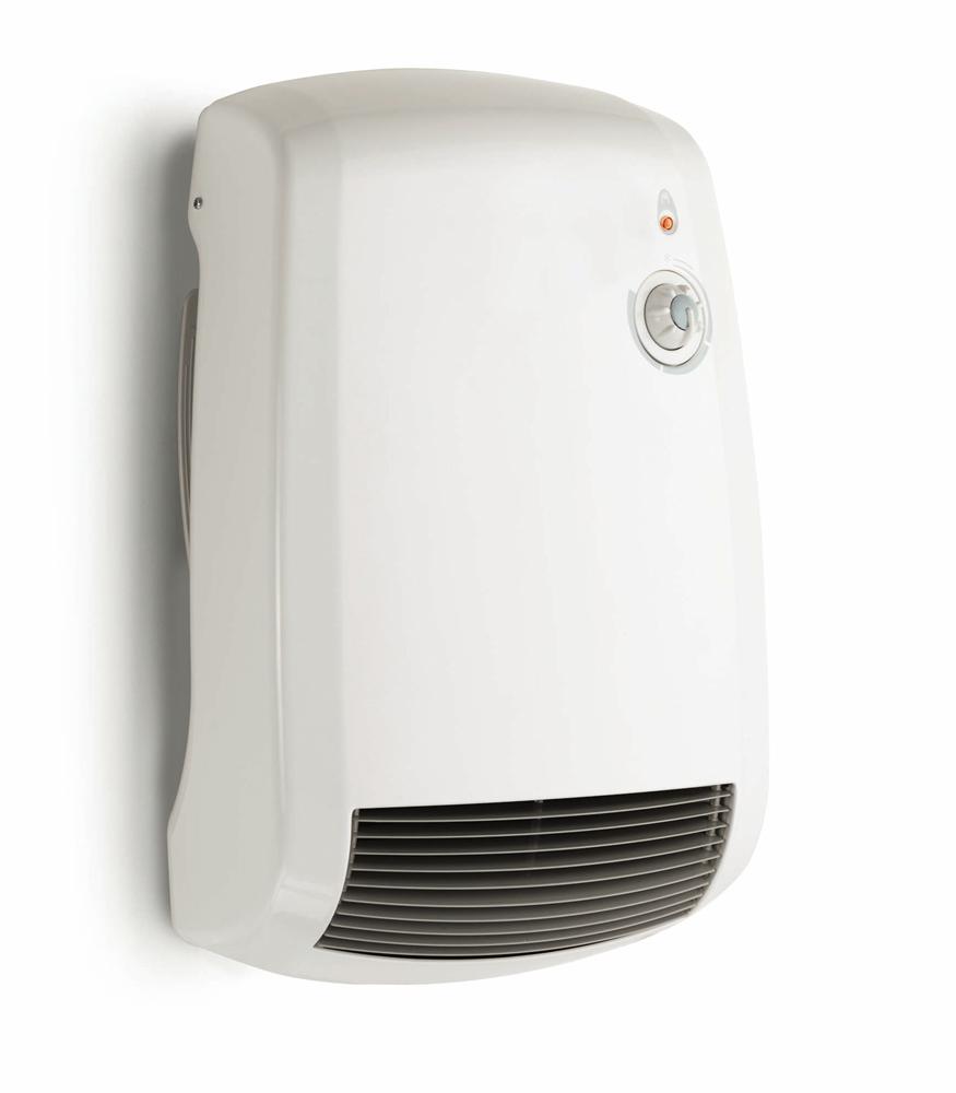 Termoventilatore a muro con termostato ces5000 radialight - Deumidificatore bagno parete ...