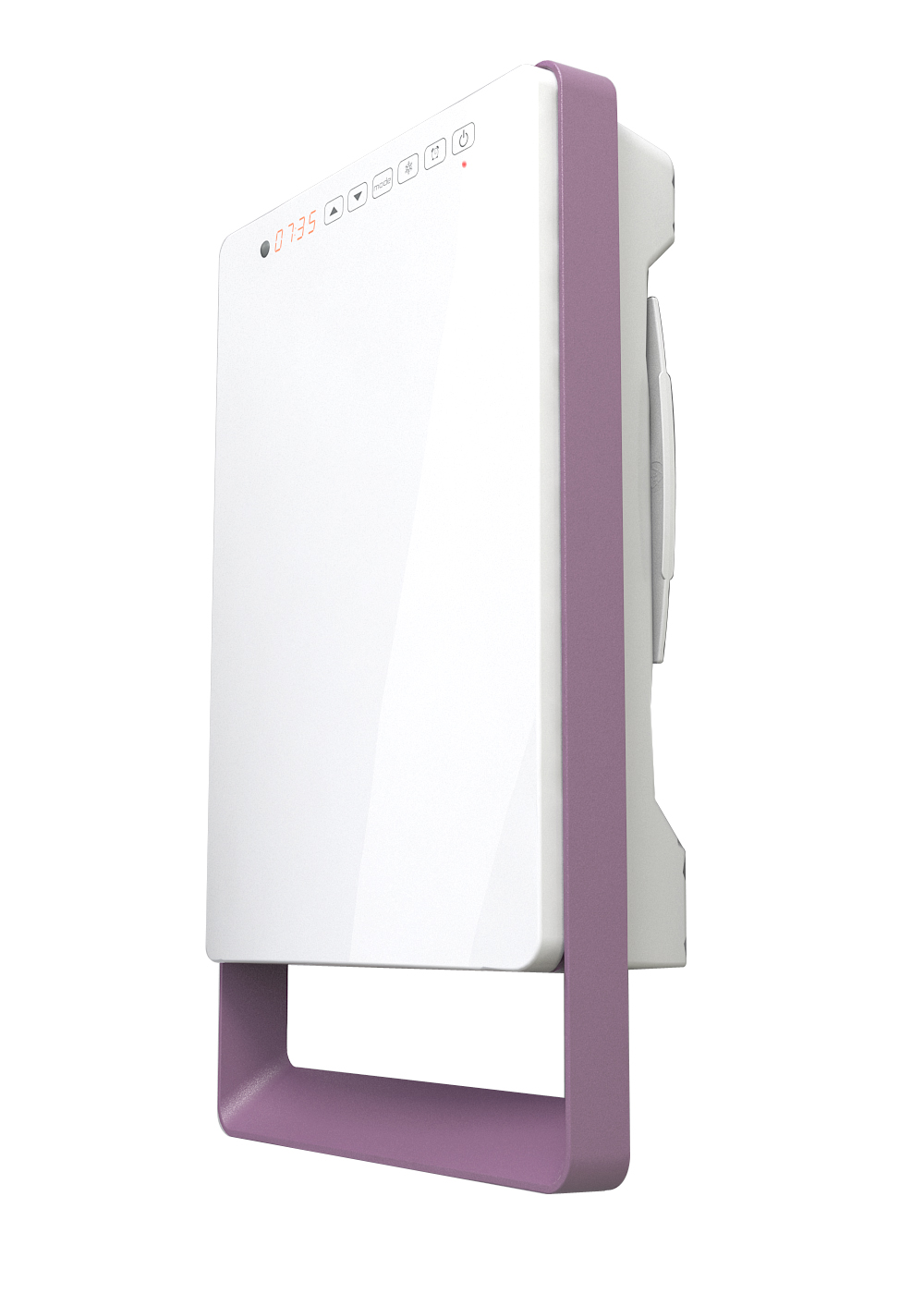 Termoventilatore elettrico da bagno digitale touch versione malva radialight - Termoventilatore per bagno ...