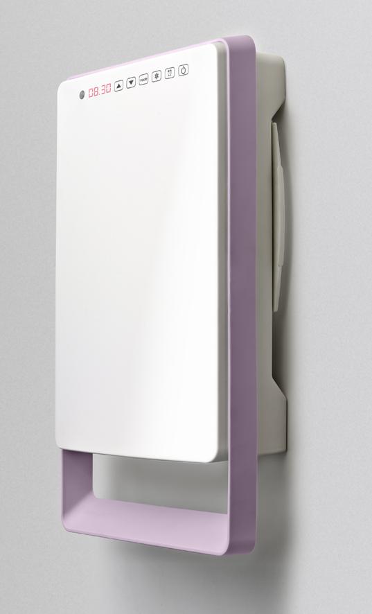 Termoventilatore elettrico da bagno digitale touch versione malva radialight - Deumidificatore per bagno ...